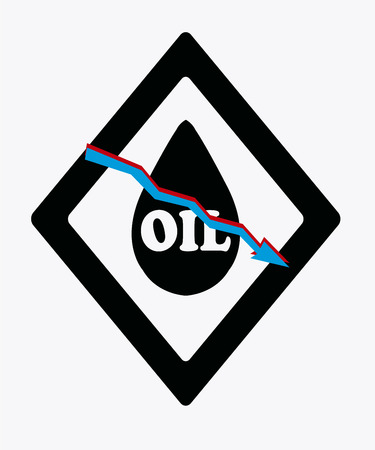 petroleum blue: falling prices of oil and fuel, oil drop on color background