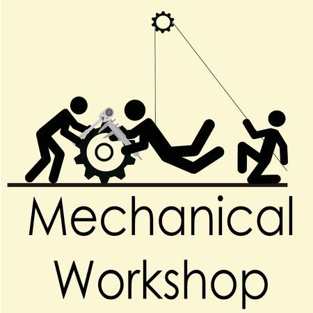 workshop illustration over color background Vector