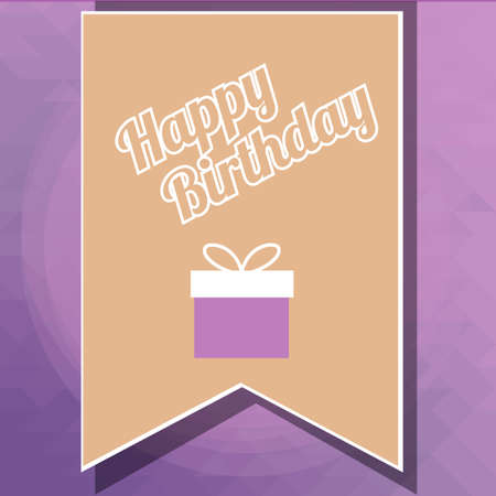 happybirthday: Happybirthday illustration, flayer over color background