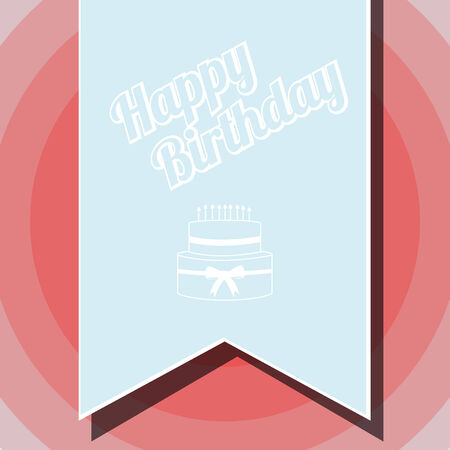 happybirthday: Happybirthday illustration,blue flayer over color background