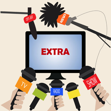 extraordinary: extraordinary news on television Illustration
