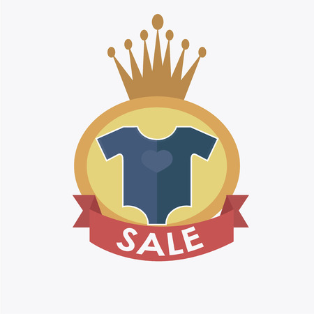 ble: sale or discount of clothes baby Illustration