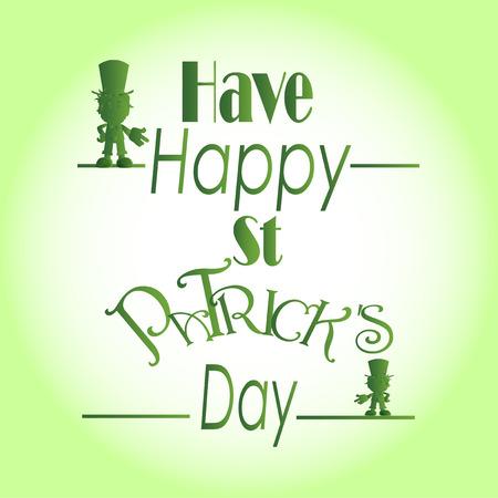 degrade: St. Patrick days text over degrade background Illustration