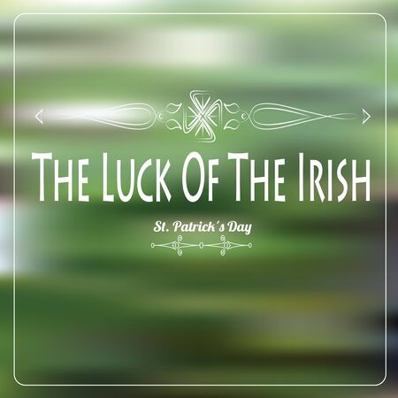degrade: the luck of the irish over green degrade background