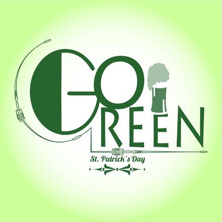 degrade: go green in saint patricks day over green degrade  background