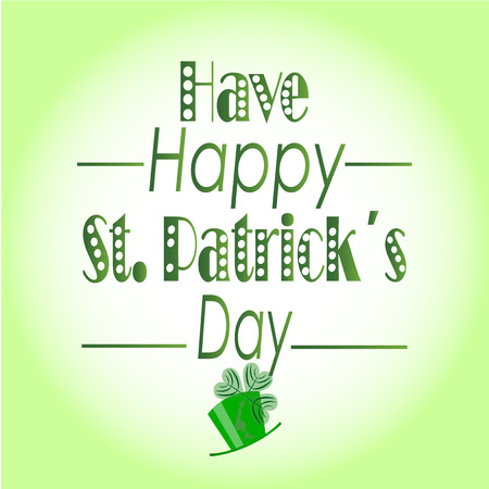 degrade: have happy st. patrick?s day over degrade bacground Illustration