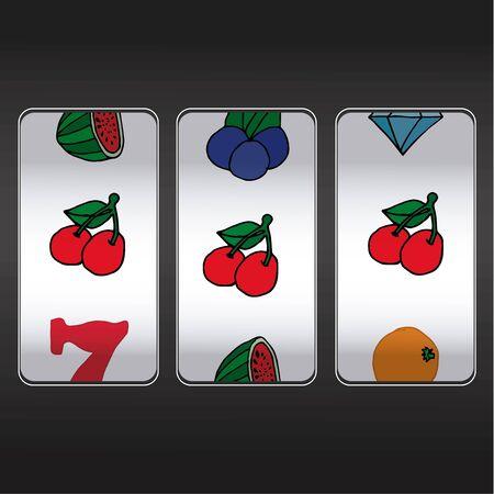 one armed: slot machine,threesome cherrys