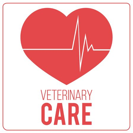 veterinary care: Veterinary Care Pets illustration over color background