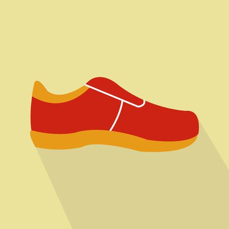 tennis shoes: tennis shoes and flat background Illustration