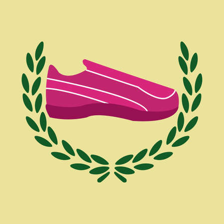 tennis shoes: tennis shoes and olive crown over yellow color background