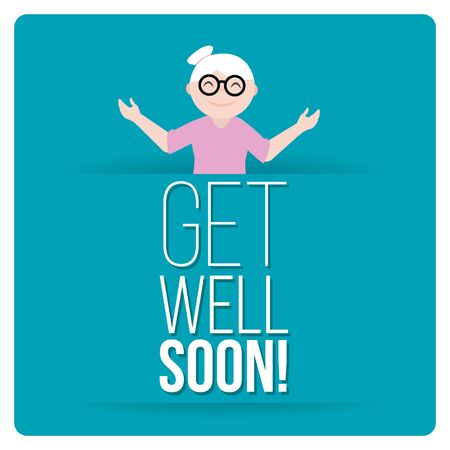 health   wellness: get well soon over color background