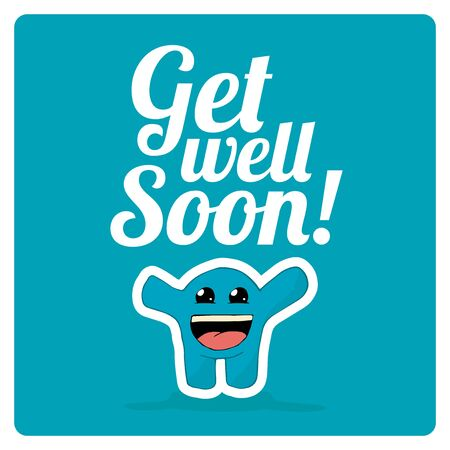 get well soon: get well soon over color background
