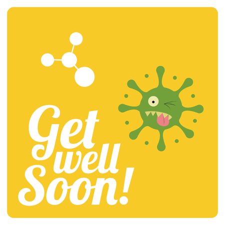 virus sida: consiga bien pronto sobre fondo de color