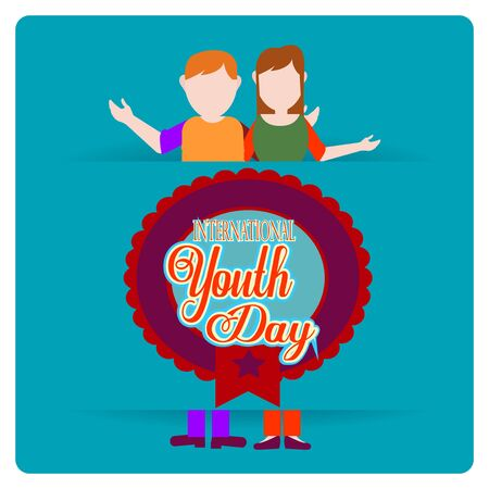 Youth Day illustration over color background