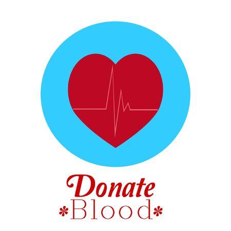 white color: Donate Blood illustration over white color background Illustration