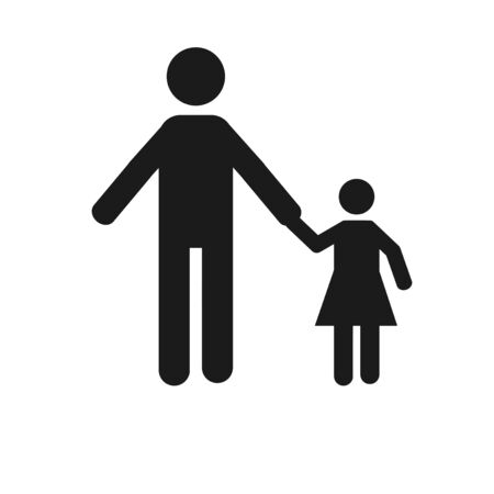 white color: parents and children over white color background