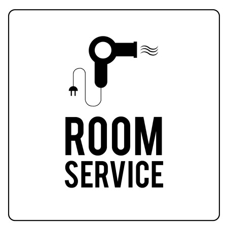 room service: room service illustration over color background