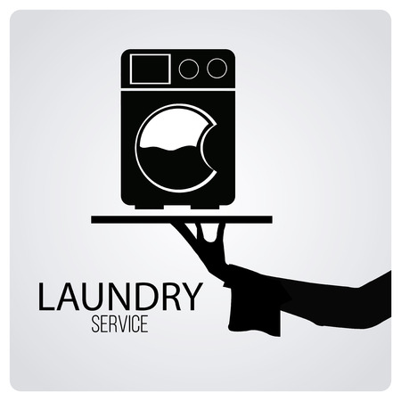 laundry service over degrade color background