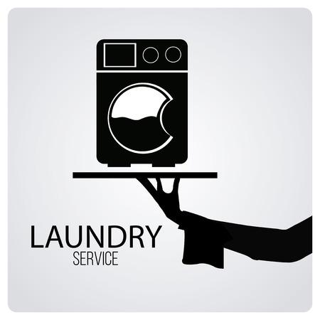 Wäscheservice über degrade Farbe Hintergrund