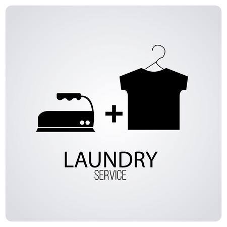 set symbols: laundry service over degrade color background