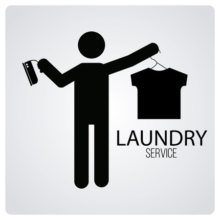 degrade: laundry service over degrade color background