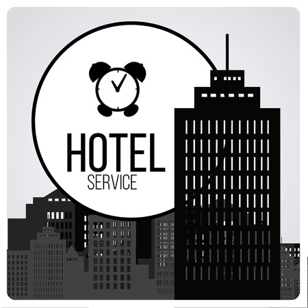 hotel service illustration over gray colored background