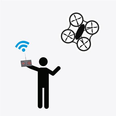 white color: drone illustrator over white color background Illustration