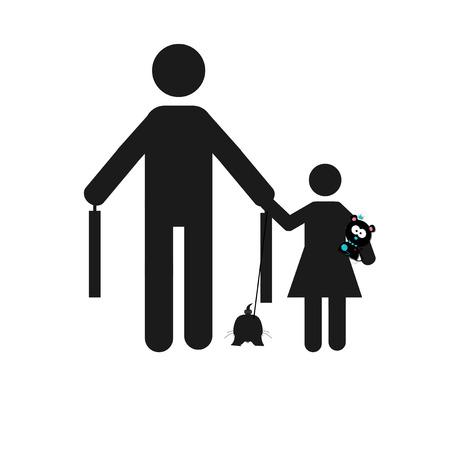 gente adulta: ilustración refugiados sobre blanco color de fondo Vectores