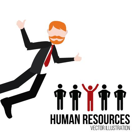 white color: human resources illustration over white color background