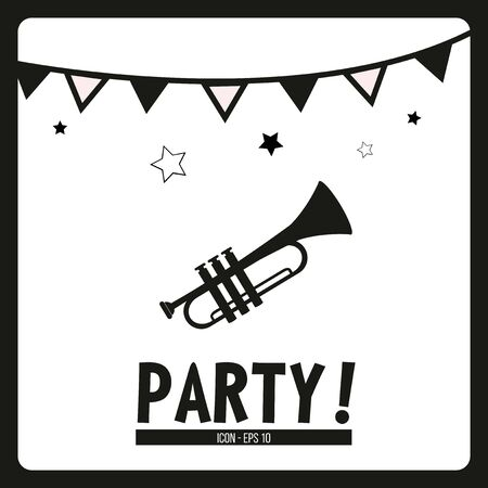 serenade: party illustration over white color background