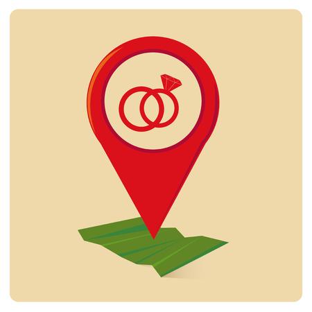 gps navigator: GPS Navigator vector over color background Illustration