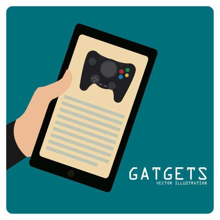 gadget: gadget illustration over color background Illustration