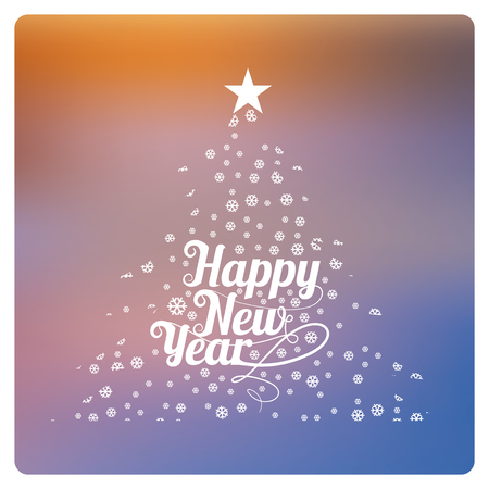 degrade: Happy New year illustration over color background
