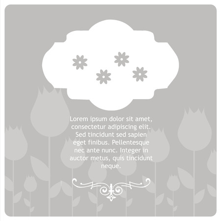 condolence: Condolences illustration over gray color background Illustration