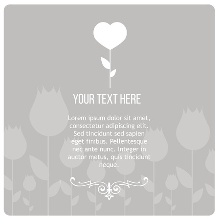 obituary: Condolences illustration over gray color background Illustration