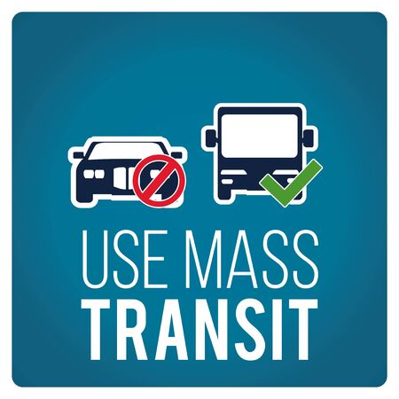 use: use mas transit illustration over blue color