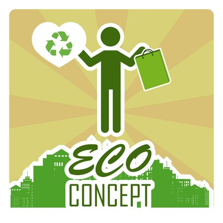 going green: eco concept illustration