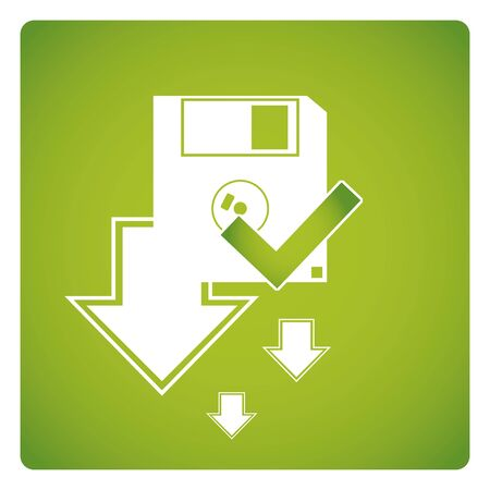 interoperability: Free license vector,  green color background