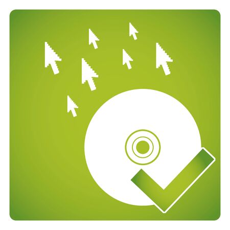 shareware: Free license vector,  green color background