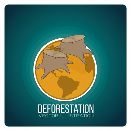 deforestacion: diseño de la deforestación paisaje Vectores