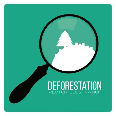 deforestacion: dise�o de la deforestaci�n paisaje Vectores