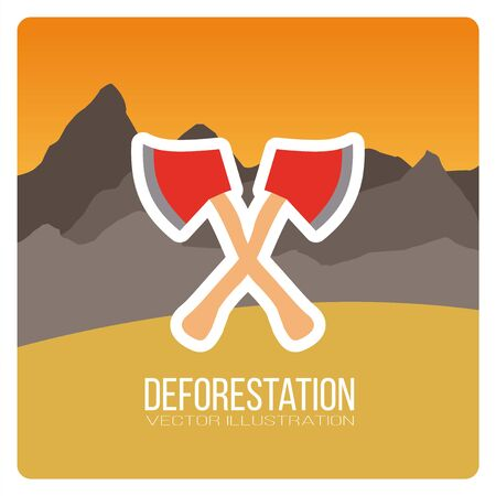 desolation: landscape deforestation design