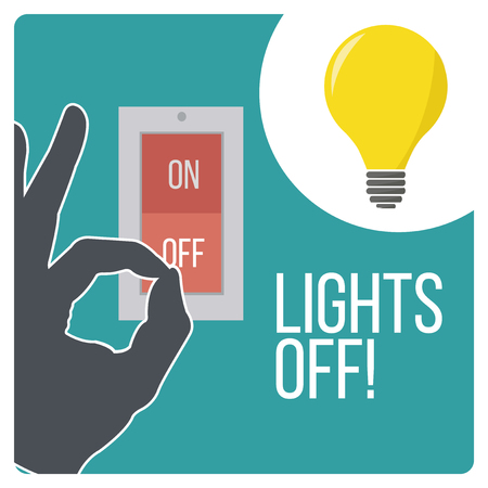 switch off: lights off design switch and devices