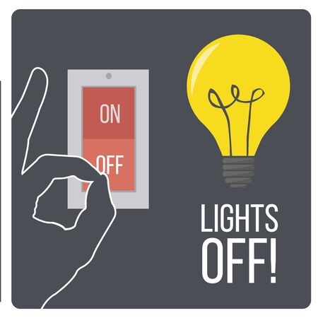 turn on: lights off design switch and devices