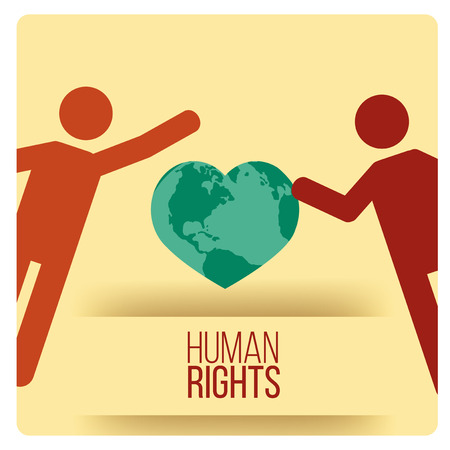 tolerance: Human Rights Design over yellow color background