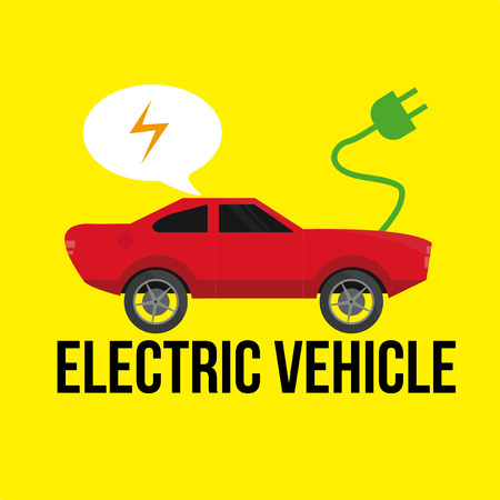 electric vehicle: Electric Vehicle icons over color background