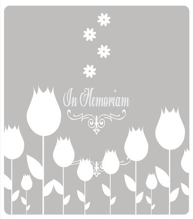 loving: In memoriam, condolences icon over gray color background Illustration