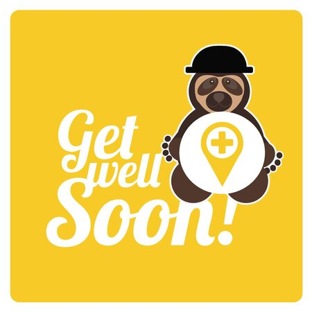 get well soon: Get well soon design, in yellow color