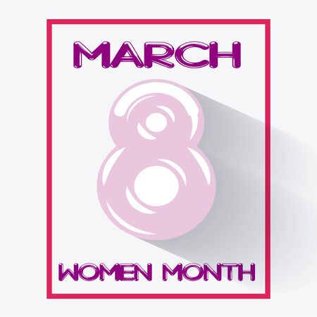 fuschia: Woman day design in pink color