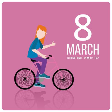fuchsia color: woman day design over fuchsia color Illustration